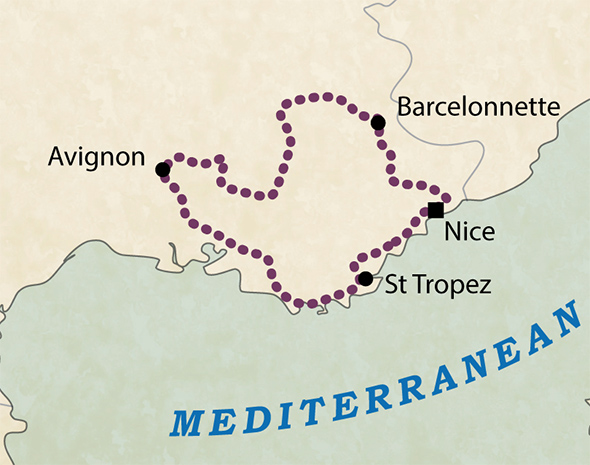 in the heart of provence tour map