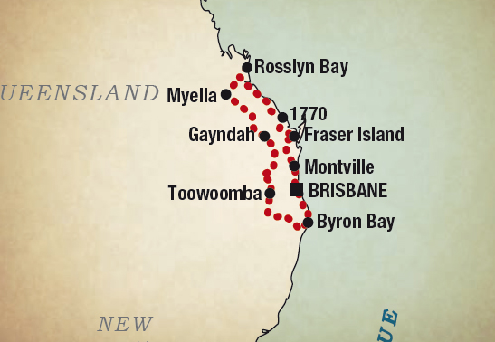 map queensland tour