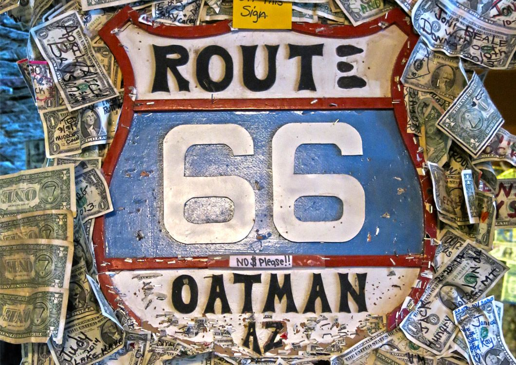 Route 66 oatman sign