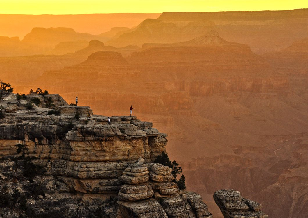 sunset at the great canyon