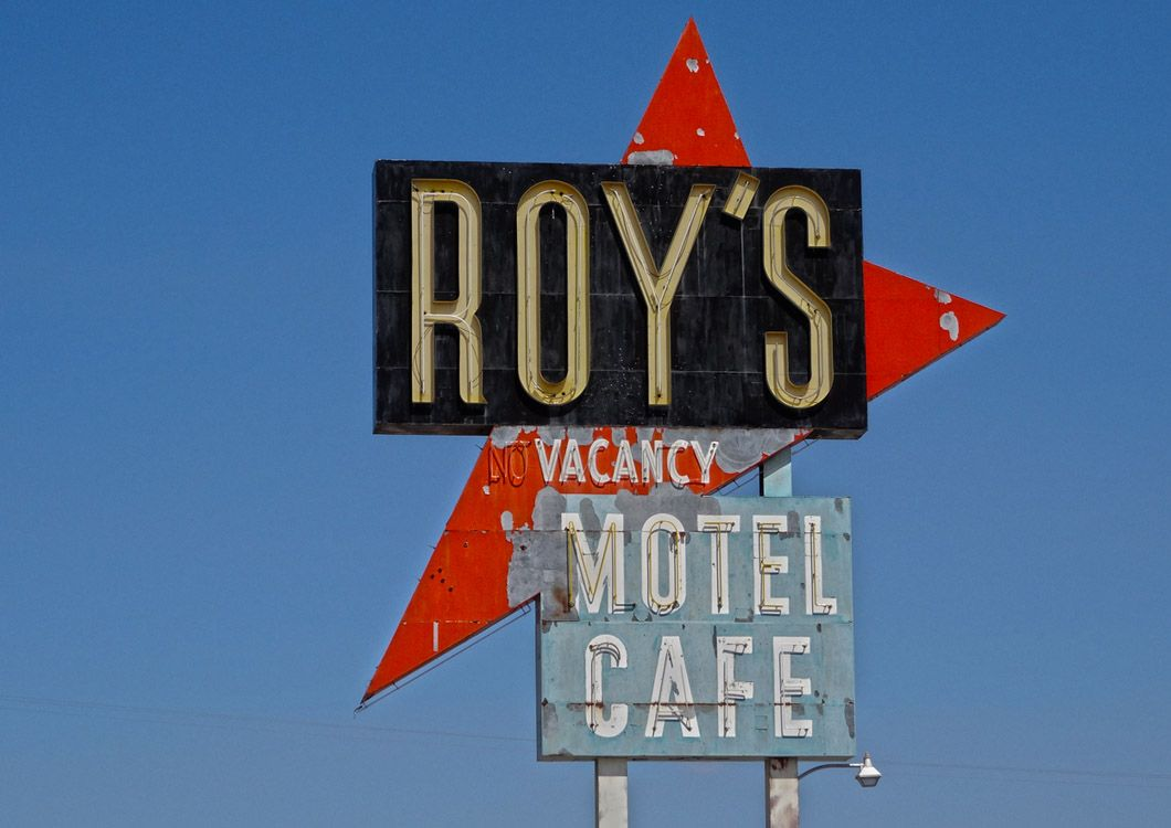 Roy's cafe sign route 66