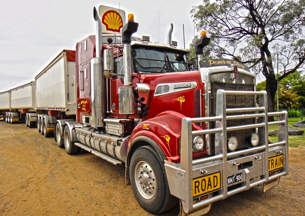 red road train truck australia